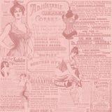 Uitstekende Digitale Document Textuur Als achtergrond - Korsetten - Uitstekende Lingerie die - Victoriaanse Era adverteren royalty-vrije illustratie
