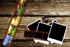 Uitstekende document en foto Royalty-vrije Stock Afbeeldingen