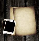 Uitstekende document en foto Royalty-vrije Stock Foto's