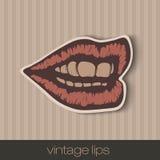 Uitstekende document lippen Royalty-vrije Stock Foto