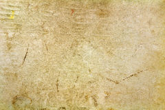 Uitstekende document textuur met gekleurde vlekken en vouwen op de oppervlakte abstracte achtergrond royalty-vrije stock foto's