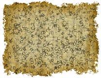 Uitstekende Document Textuur met tekst op witte achtergronden Royalty-vrije Stock Afbeelding