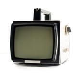Uitstekende draagbare Televisie Stock Afbeeldingen