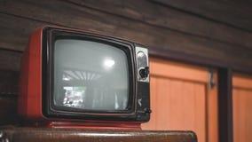 Uitstekende Draagbare Televisie Oude Inzameling stock afbeeldingen