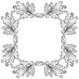 Uitstekende Eiken kroon vector illustratie