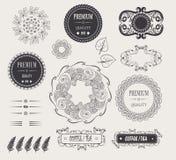 Uitstekende elegante kaders en etikettenpremie Stock Fotografie