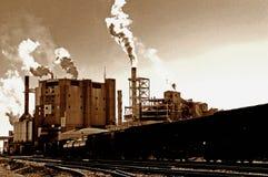 Uitstekende elektrische centrale royalty-vrije stock foto