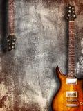 Uitstekende elektrische gitaar Stock Afbeelding