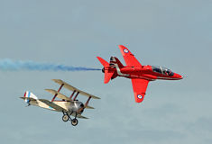 Uitstekende en moderne vliegtuigen Royalty-vrije Stock Foto