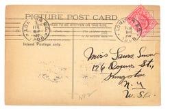 Uitstekende Engelse prentbriefkaar (1908) stock fotografie