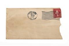 Uitstekende envelop Stock Foto's