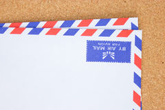 Uitstekende envelop. Royalty-vrije Stock Foto's