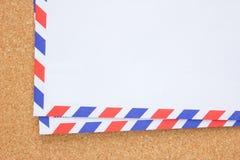 Uitstekende envelop. Royalty-vrije Stock Afbeelding