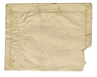 Uitstekende envelop Royalty-vrije Stock Foto