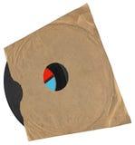 Uitstekende envelop, oud vinylverslag, document textuur Stock Fotografie