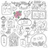 Uitstekende etiketreeks, Romantische reeks etiketten en Royalty-vrije Stock Fotografie