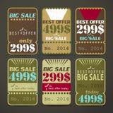 Uitstekende etiketten Stock Fotografie