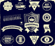 Uitstekende etiketten op de zwarte Inzameling 2 Royalty-vrije Stock Afbeeldingen