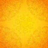 Uitstekende etnische vectorornament oranje achtergrond Royalty-vrije Stock Afbeeldingen