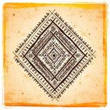 Uitstekende Etnische zonnebloemachtergrond Stock Afbeelding
