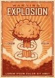 Uitstekende explosieaffiche royalty-vrije illustratie