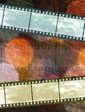 Uitstekende film negatief op kleurrijke textuur royalty-vrije stock foto's