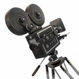 Uitstekende filmcamera. 3d stock illustratie