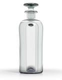 Uitstekende fles duidelijk glas Royalty-vrije Stock Foto