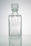 Uitstekende fles op witte achtergrond Stock Afbeelding