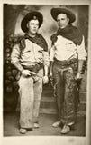 Uitstekende Foto van Cowboys Stock Afbeelding