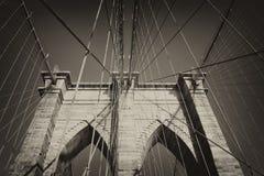 Uitstekende foto van de Brug van Brooklyn (NYC) Royalty-vrije Stock Afbeelding