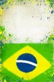 Uitstekende foto van de vlag van Brazilië Stock Foto
