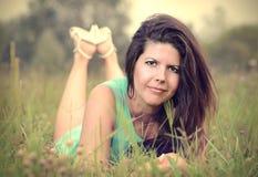 Uitstekende foto van een mooie Kaukasische vrouw Royalty-vrije Stock Afbeelding