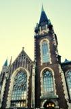 Uitstekende foto van kathedraaltoren Stock Foto