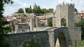 Uitstekende foto van middeleeuwse Europese stad stock footage