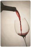 Uitstekende foto van wijn en fles Royalty-vrije Stock Foto's