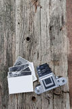 Uitstekende fotocamera en foto's Royalty-vrije Stock Fotografie