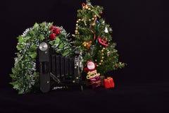 Uitstekende fotocamera en vrolijke Kerstmis stock afbeeldingen