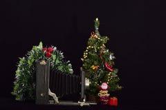 Uitstekende fotocamera en vrolijke Kerstmis royalty-vrije stock foto