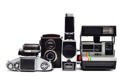 Uitstekende fotocamera's Royalty-vrije Stock Fotografie