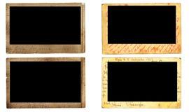 Uitstekende fotoframes Stock Foto