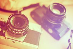 Uitstekende Fotografiecamera's royalty-vrije stock afbeeldingen