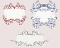 Uitstekende frames Royalty-vrije Stock Afbeeldingen