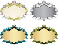 Uitstekende frames Royalty-vrije Stock Foto's