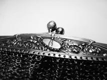 Uitstekende Franse echte zilveren gegraveerde beurs Stock Foto's