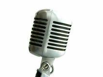 Uitstekende Geïsoleerde Microfoon royalty-vrije stock afbeelding