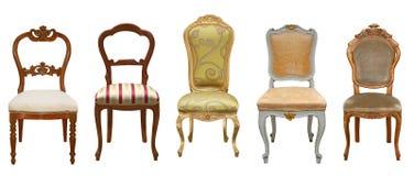 Uitstekende geïsoleerde stoelen Royalty-vrije Stock Fotografie