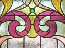 Uitstekende gebrandschilderd glasachtergrond Royalty-vrije Stock Fotografie