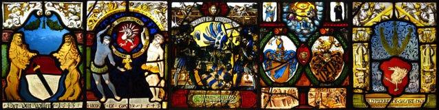 Uitstekende gebrandschilderd glascollage Stock Foto