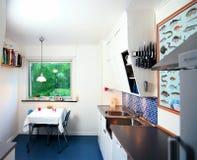 Uitstekende gemoderniseerde keuken stock afbeeldingen